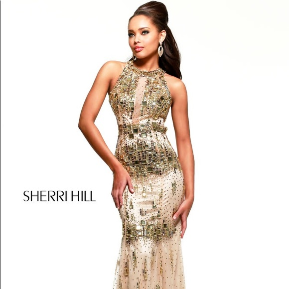 Sherri Hill Dresses Nude Gold Prom Dress Poshmark